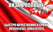 Польская виза бстро с гарантией бизнес рабочая туристическая