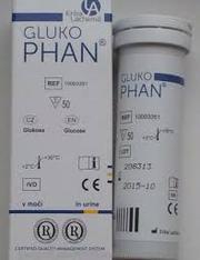 Диагностические полоски,  Глюкофан,  50 определений.