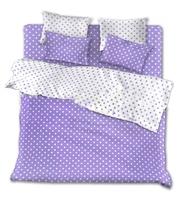 Постельное белье из поплина Фиолетовые горохи