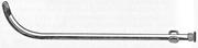 Катетер уретральный металлический мужской изогнутый. Длина 29 см,  толщ