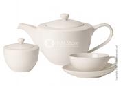 Чайный сервиз из кремового фарфора Villeroy & Boch,  продам