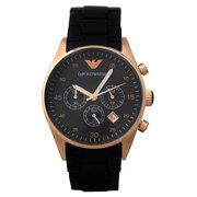 Мужские часы хронограф Armani AR5905 Black Gold