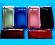 яркий пластмассовый перламутровый чехол хром для iPhone 3G 3Gs