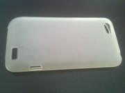 Стильный TPU белый силиконовый полупрозрачный чехол для HTC One V
