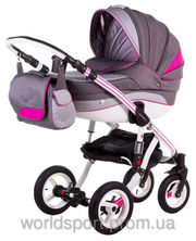 Детская коляска Adamex ASPENA RAINBOW DELUXE PINK