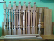 Балясины,  столбы для лестницы.