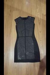 Шикарное черное коктейльное мини платье