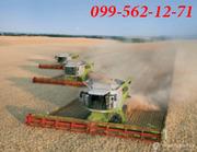 Услуги по уборке сои,  кукурузы,  зерновых рапса,  свеклы.Запорожье.