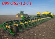Услуги посева зерновых,  кукурузы,  подсолнуха. Аренда сеялки. Запорожье