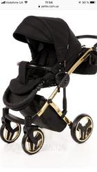 Продам новую детскую коляску 2 в 1 Junama diamond s-line Gold
